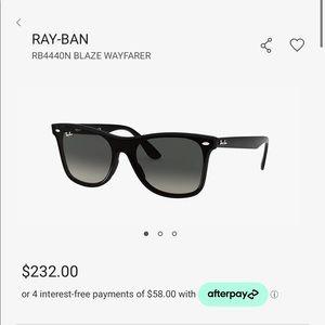 Ray-Ban blaze wayfarer unisex black sunglasses